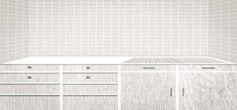 Biały kuchenny drewno Zdjęcie Royalty Free