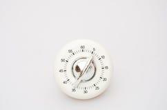 Biały Kuchenny zegar Zdjęcie Stock