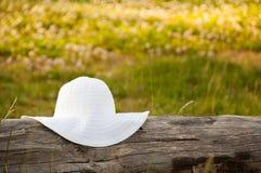 Biały lato kapelusz Fotografia Stock