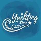 Biały literowanie jachtingu czas Fotografia Royalty Free