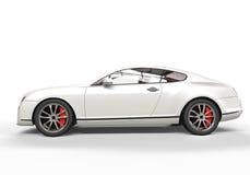 Biały Luksusowy samochód Obrazy Royalty Free