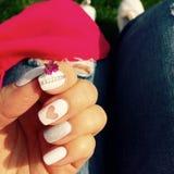 Biały manicure Obraz Royalty Free
