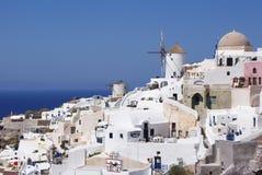 Biały miasteczko na Santorini Zdjęcie Royalty Free