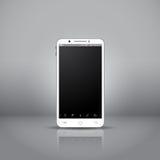 Biały mobilny smartphone Zdjęcia Royalty Free
