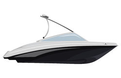 Biały motorboat Fotografia Stock