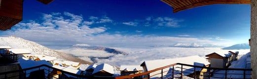 Biały niebo Fotografia Stock