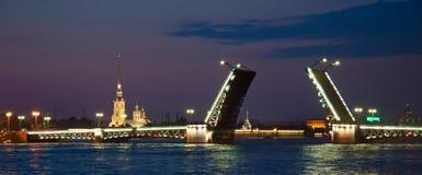 Biały noc, Saint-Petersburg Fotografia Stock