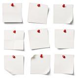 Biały nutowy papier Obraz Stock
