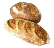 biały odosobneni chlebów bochenki Obrazy Stock