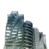 biały odosobneni miasto drapacz chmur Fotografia Royalty Free