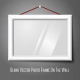 Biały odosobniony horyzontalny fotografii ramy obwieszenie dalej ilustracji