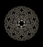 Biały ornament na czarnym tle Obraz Royalty Free