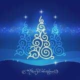 Biały ornamentacyjny drzewo Zdjęcie Royalty Free