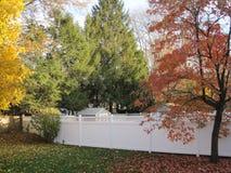 biały p v c ogrodzenie Zdjęcia Royalty Free