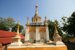 Biały pagodowy Thailand obraz stock