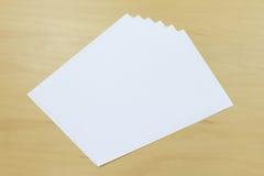 Biały papier Obrazy Royalty Free