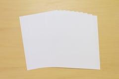 Biały papier Zdjęcia Royalty Free