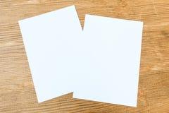 Biały papier Obrazy Stock