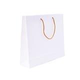 Biały papieru torba na zakupy Fotografia Stock