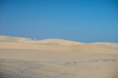 Biały piasek diuny Mui Ne Wietnam Obrazy Royalty Free