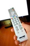 Biały pilot do tv dla TV Zdjęcie Royalty Free
