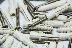 Biały plastikowy cleat Fotografia Royalty Free