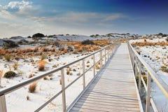biały pomnikowi krajowi piaski Fotografia Royalty Free