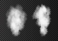 Biały realistyczny dymny wybuch na przejrzystym backg Obrazy Stock