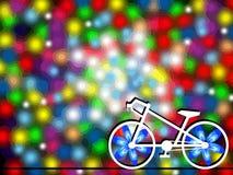 Biały rower obraz royalty free