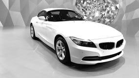Biały samochód Obrazy Stock