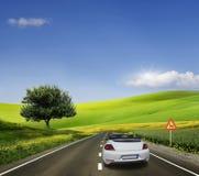 Biały samochód, kabriolet Obraz Stock