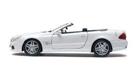 Biały samochodowy kabriolet Zdjęcia Stock