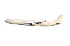 Biały samolot Zdjęcia Royalty Free