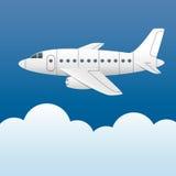 biały samolot Fotografia Royalty Free