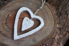 Biały serce fotografia stock