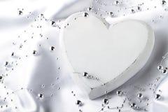 Biały serce Zdjęcia Royalty Free