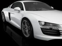 Biały sporta samochód ilustracji