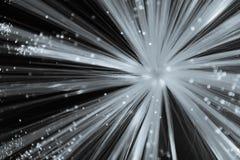 Biały Starburst na Czarnym tle Zdjęcie Royalty Free