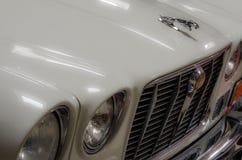 biały stary jaguara samochód Obrazy Royalty Free