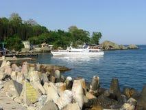Biały Statek Fotografia Royalty Free