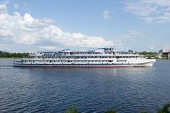Biały statek Zdjęcia Stock