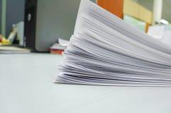 Biały sterta papier Fotografia Stock