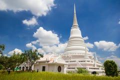Biały Tajlandzka pagoda Zdjęcia Stock