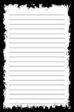 Biały tekstura notatnika papier na czarnym tle Fotografia Royalty Free