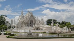 Biały tempel Chiang raja Zdjęcia Royalty Free