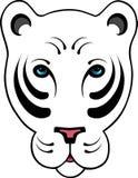 biały tygrys stylizowany ilustracji