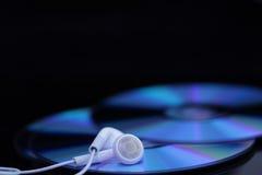 biały uszaci cds telefony Zdjęcia Stock