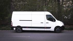 Biały Van Fotografia Royalty Free