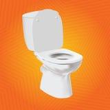 Biały wektorowy toaletowy puchar Zdjęcia Royalty Free