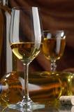 biały wino Obrazy Royalty Free